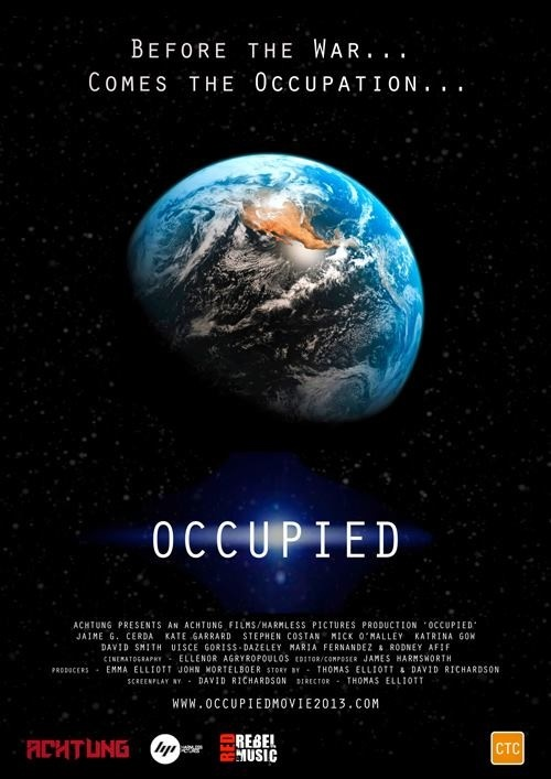 The Official Occupied teaser poster which was released via Facebook this morning at: www.facebook.com/OccupiedTheMovie    Please get behind our film at: http://igg.me/at/occupiedmovie