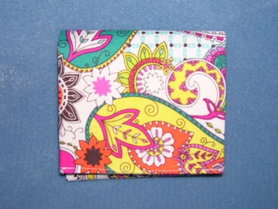 Unisex Trifold Fabric Wallet  Summer Bliss by SpiritPenny on Etsy, $20.00