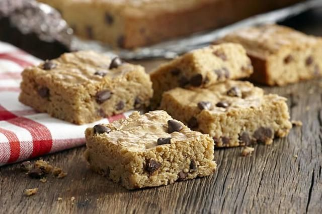 This gluten-free blondies recipe gets a hint of chocolate flavor from chocolate chips.
