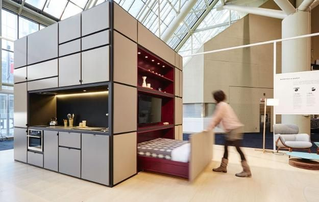 compact home in one cube for small spaces space saving