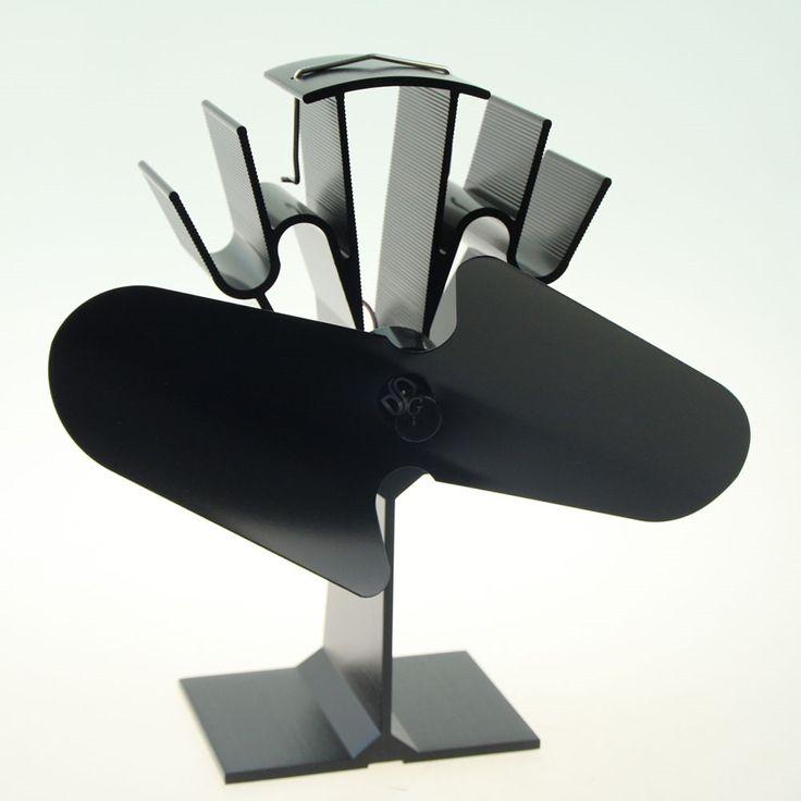 Quemador de estufa de calor alimentado ventilador superior de madera con el termómetro por ducha ecoflow