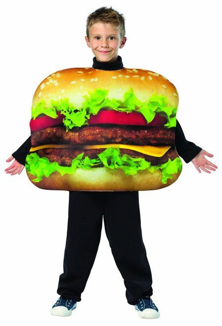 Move over happy meal, this Kids Cheeseburger costume will have mouths watering this Halloween. The Kids Cheeseburger costume is a one piece, poly foam costume that is easy to wear. Sure to be a hit at any party or out trick-or-treating. Pair it with other food costumes for a great group or family theme.