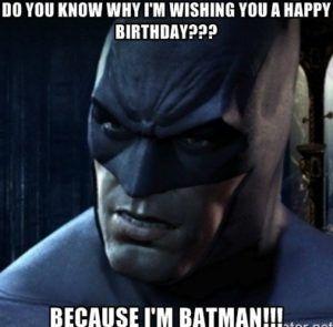 Afbeeldingsresultaat voor batman birthday memes