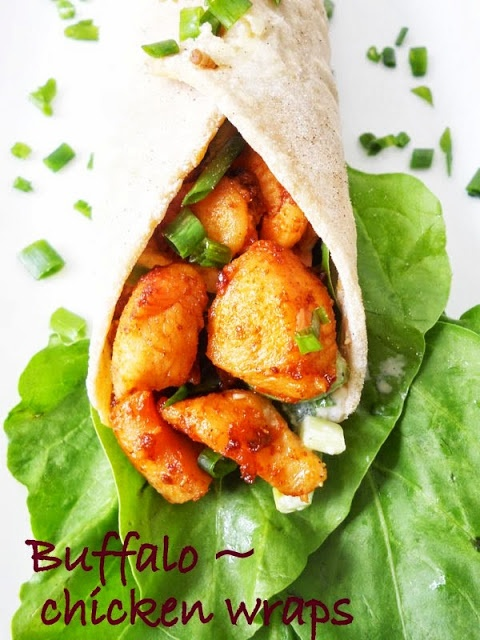 Buffalo Chicken Wraps....step by step.