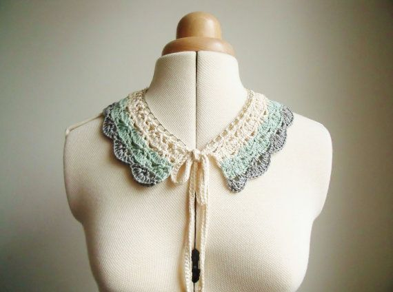 Ombre Lace Collar Necklace in Pastel Mint Green by xThreadBEARx, £38.00