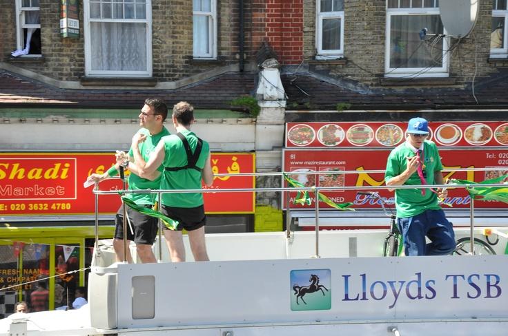 Lloyds TSB bus passing though...