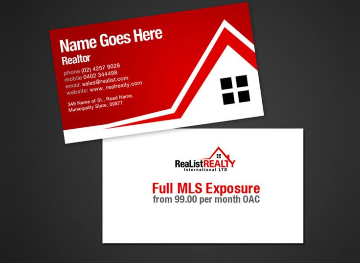 With Perfect Combination Of Colors, Real Estate Cooperate Cards