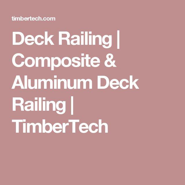 Deck Railing | Composite & Aluminum Deck Railing | TimberTech