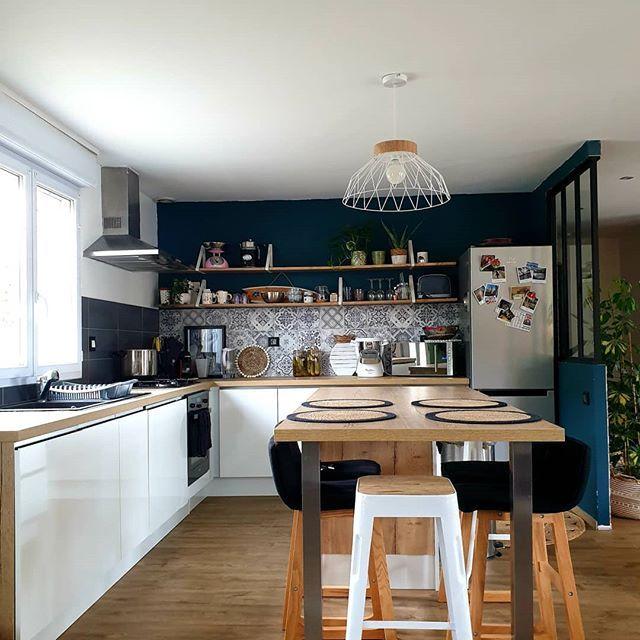 41++ Cuisine blanche et bois et noir trends