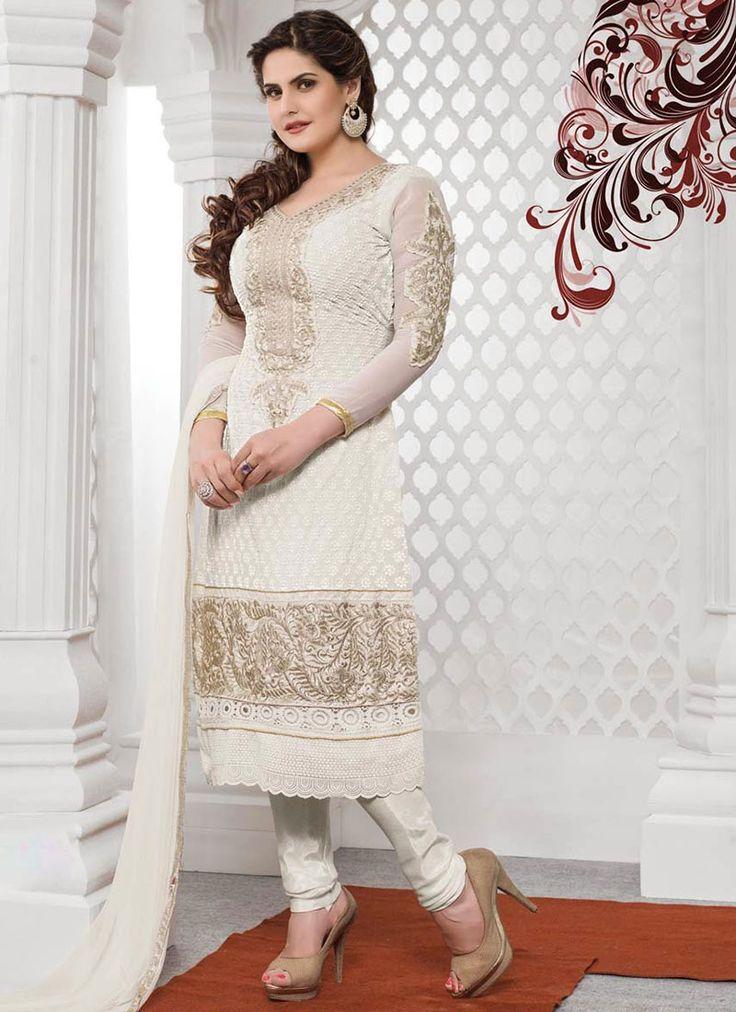 Nice Zarine Khan Georgette Straight Suit