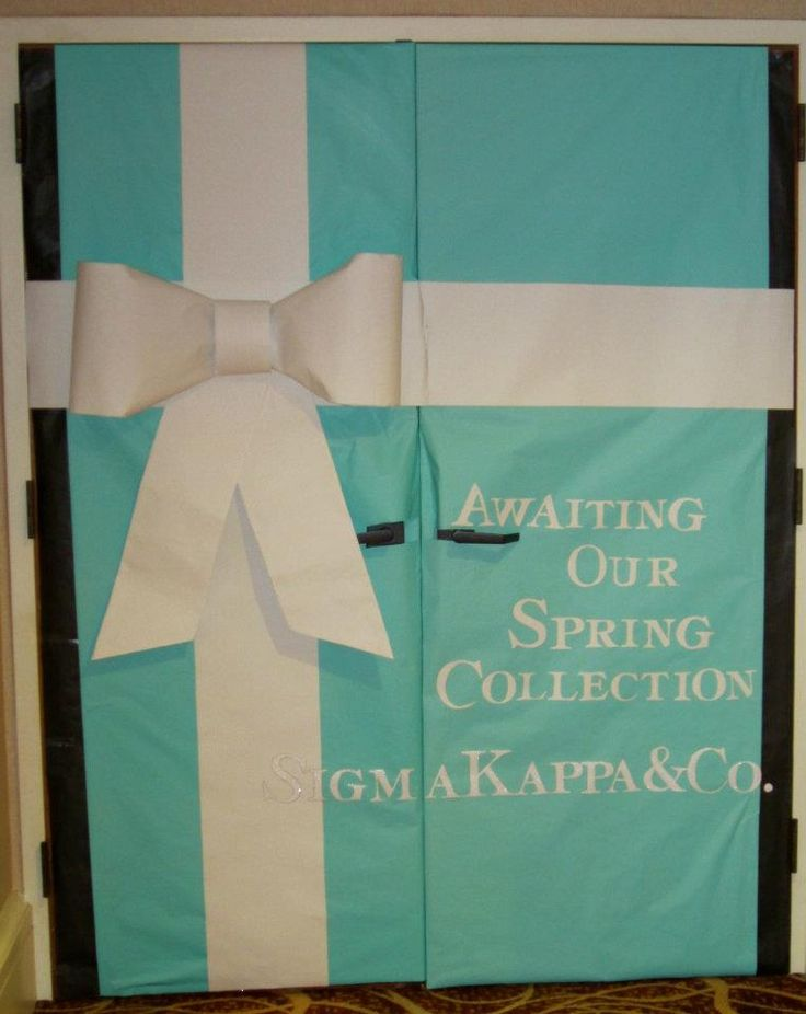 Is AST ever did a Tiffany theme during recruitment, I would die #diamondsareagirlsbestfriend #loveit