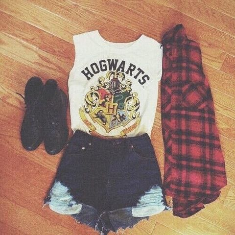 Hogwarts School White Muscle Tank. For those Harry Potter fans out there.
