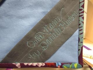 Corner #quilt #label