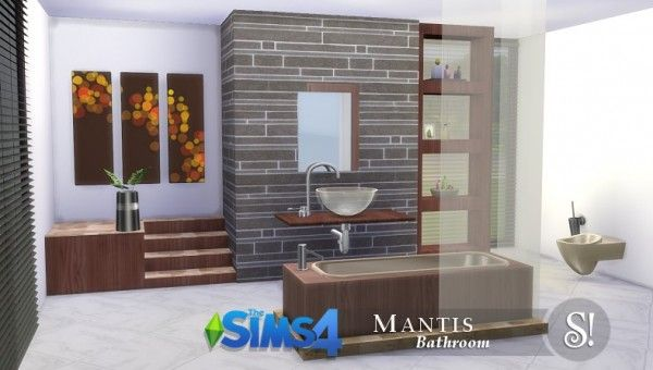 Simcredible designs mantis bathroom set plus 2 sets of for Bathroom ideas sims 3