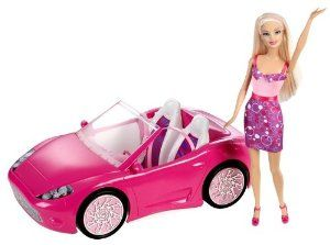 Amazon.com: Barbie Doll and Glam Convertible: Toys & Games