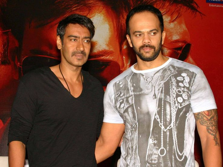 Ajay Devgan and Rohit Shetty movie photos