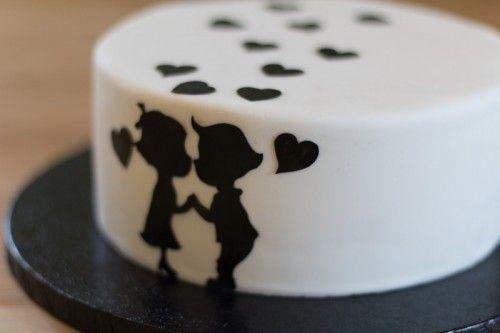 Silhuet kage / Silhouette cake