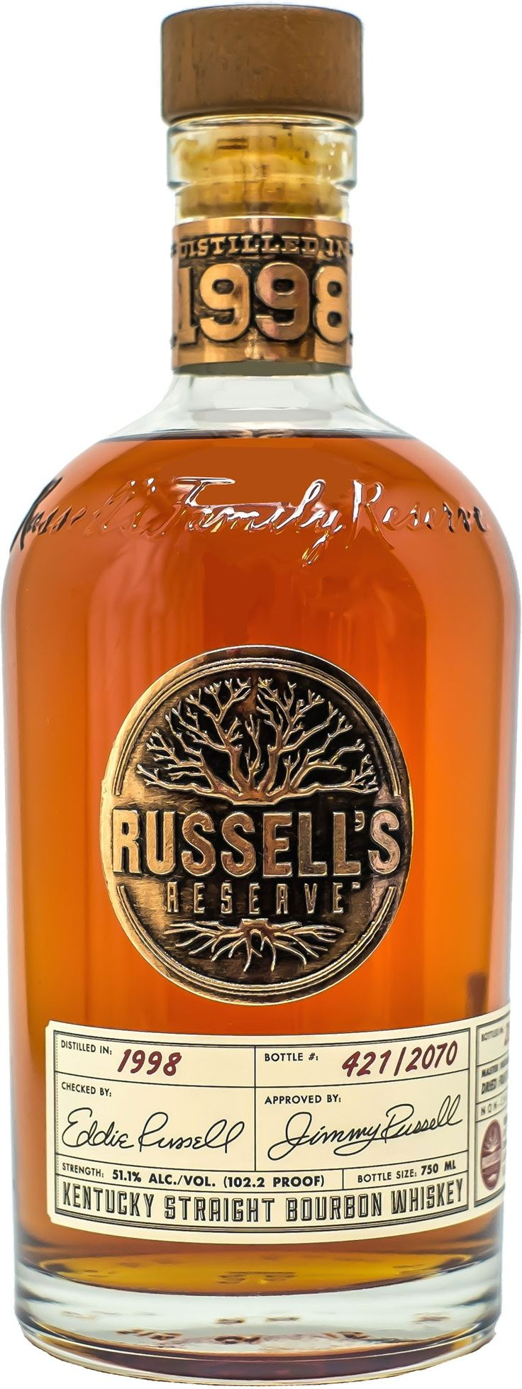 """Laid to rest in 1998 by Jimmy and Eddie Russell for a """"special occasion,"""" this bourbon is the oldest and most limited offering ever from Wild Turkey Distillery."""