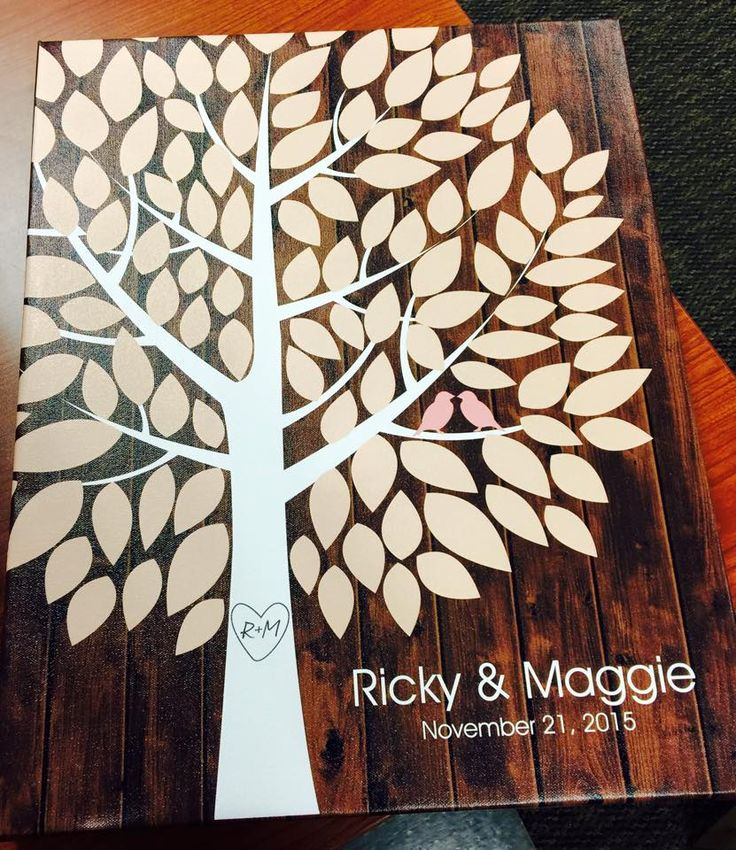 Richwood Wedding Tree Canvas   Guest Book Alternative   Customer Photo   Rustic Wedding   Peachwik.com