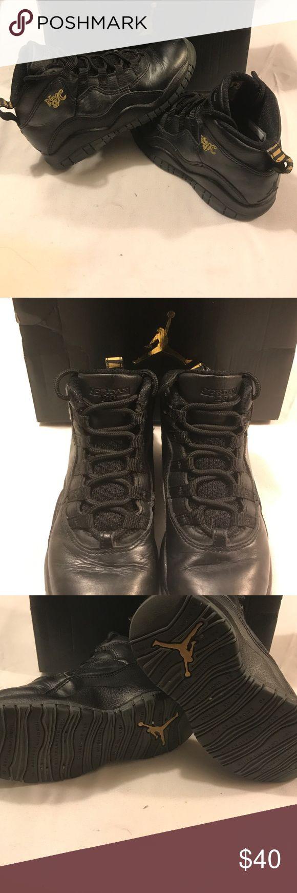 Jordan Retro 10 NYC Authentic black with gold detail Jordan retro 10 NYC's Jordan Shoes Sneakers