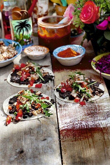 CARNITAS - tacos med mexican pulled pork. En skøn ret til familiemiddagen ....