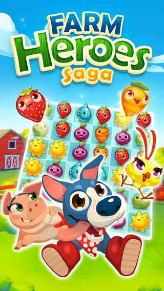Top Free iPhone App #21: Farm Heroes Saga - King.com Limited by King.com Limited - 03/31/2014