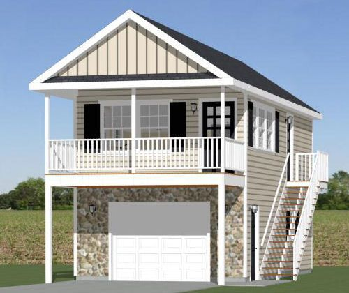 """excellentfloorplans: """"#16X32H9B $29.99 https://sites.google.com/site/excellentfloorplans Tiny 1 bedroom, 1 bath homes. 1 car garage and 136 sq ft storage on the first level, with a balcony on the 2nd..."""