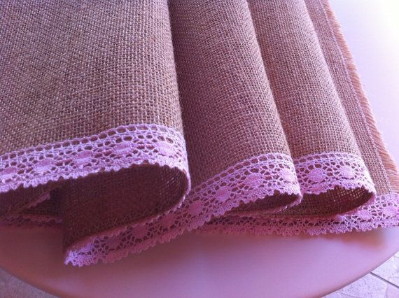 Burlap table runner....rustic chic!