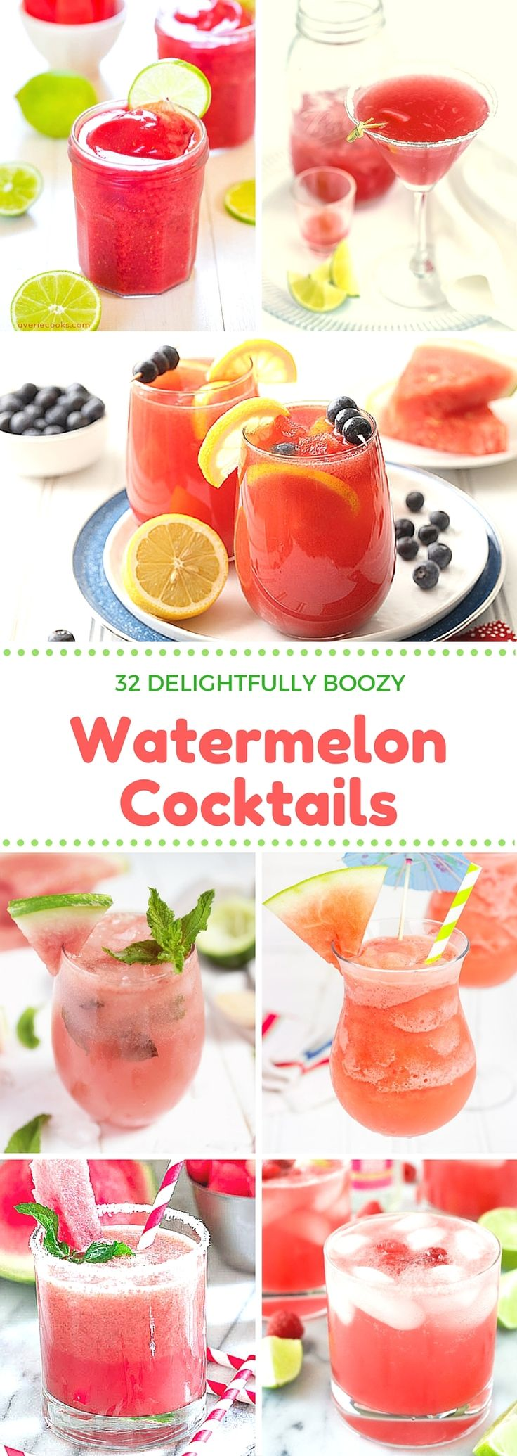 Looking for a way to chill out this summer, here's a roundup of more than 30 watermelon cocktail recipes!