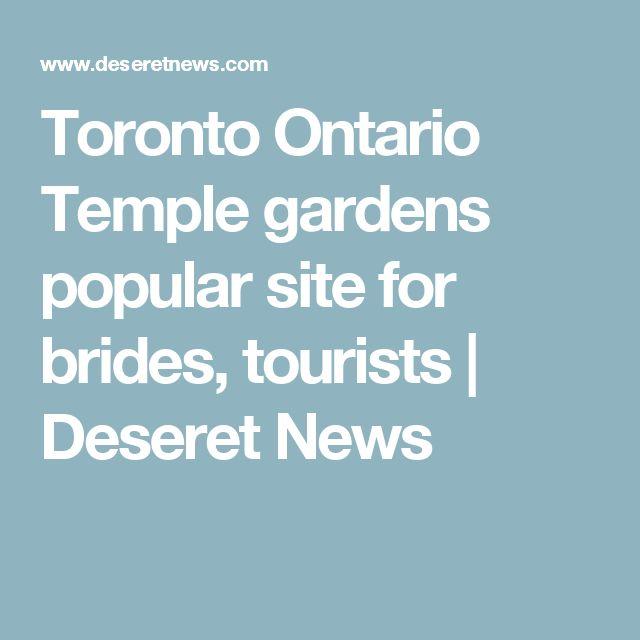 Toronto Ontario Temple gardens popular site for brides, tourists | Deseret News