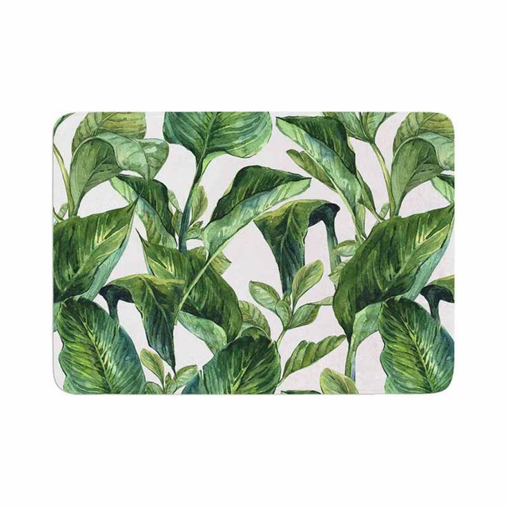 KESS InHouse Kess Original Banana Leaves Memory Foam Bath Mat - KIH361ABM01