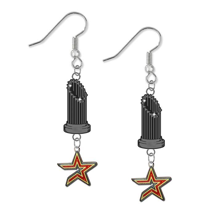 Houston Astros MLB World Series Trophy Dangle Earrings – SportsJewelryProShop