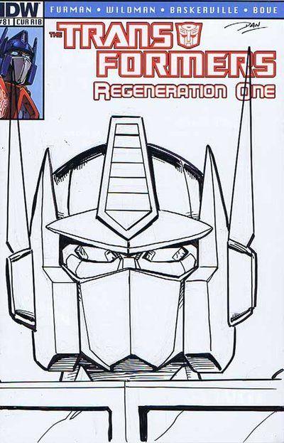 Transformers Regeneration #81 sketch cover by Dan Khanna