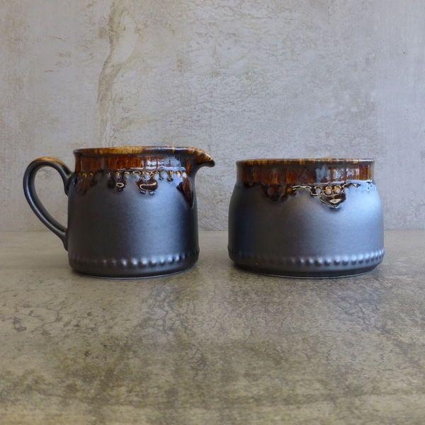 $50 ebay Vintage Crown Lynn Titian Ware Milk Jug & Open Sugar Bowl New Zealand Pottery