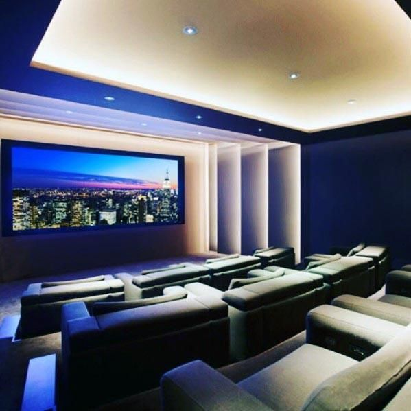 Top 40 Best Home Theater Lighting Ideas Illuminated Ceilings And Walls In 2020 Home Theater Room Design Home Theater Design Home Theater Lighting