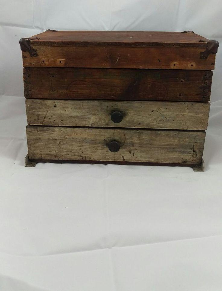 Vintage Remington Shur Shot Wooden Ammo Box with Drawers #Remington