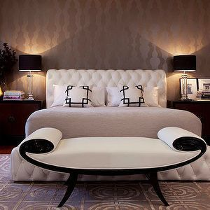 Viyet Style Inspiration   Bedroom   Tufted headboard, tufted bed, settee