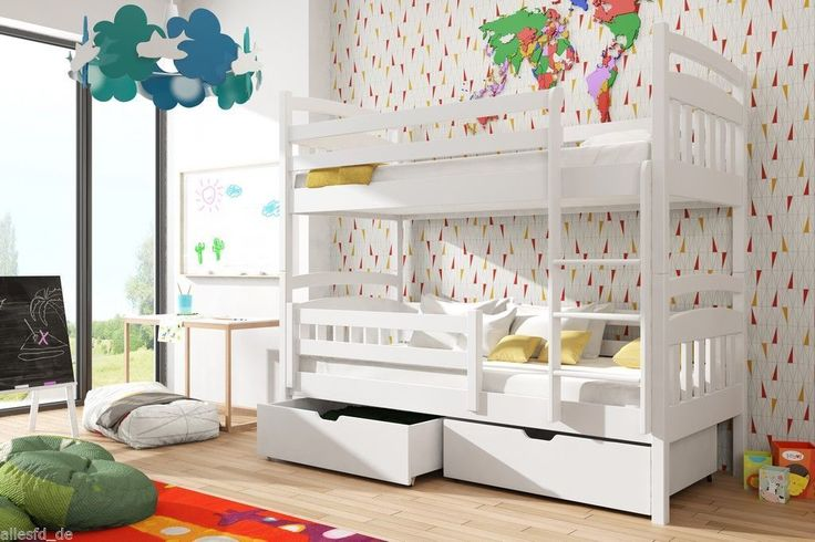 Hochbett Bett MIT Matratze Kinderbett Kinderzimmer Farbauswahl Kinderbett | eBay