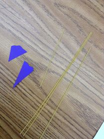 Using spaghetti and pre cut angles for law of Sines and Cosines... nice!