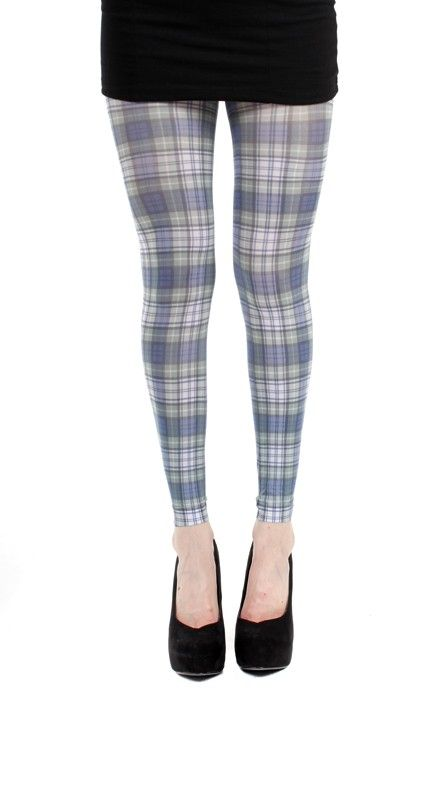 Cunningham Tartan Printed Footless Tights - Pamela Mann