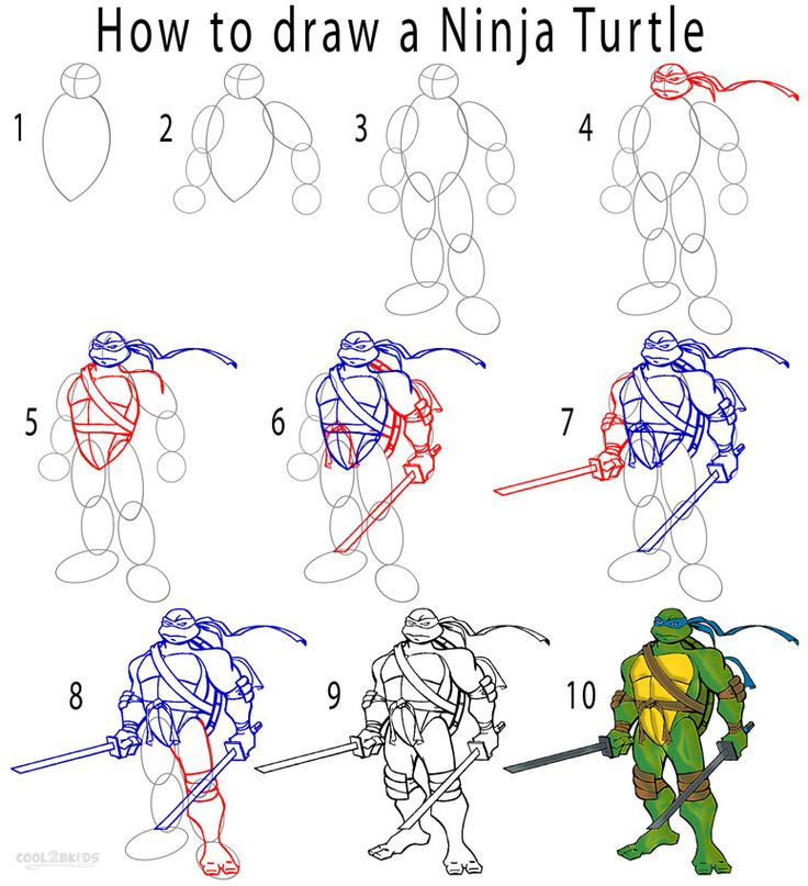 How To Draw Ninja Stuff