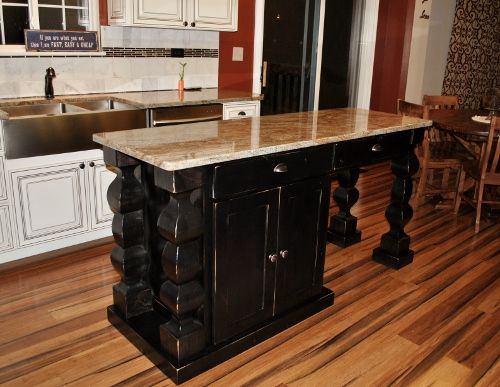 A Custom, Handmade Kitchen Island From Rustic Elements Furniture!