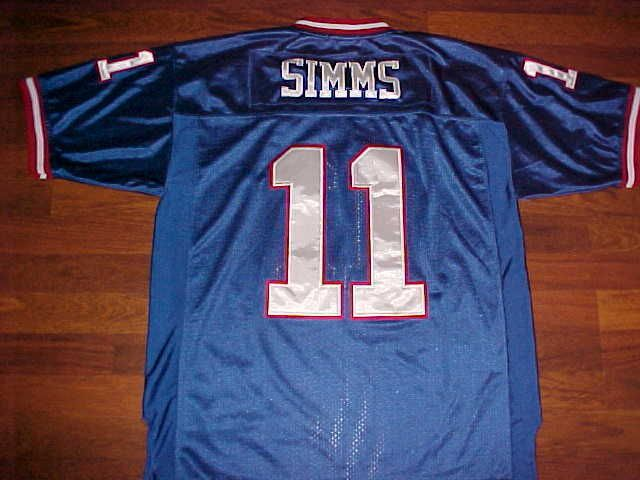1863159c50a ... Mitchell Ness Throwbacks NFL NFC 1986 N.Y. Giants Phil Simms 11 Blue  Jersey 50 MitchellNess ...