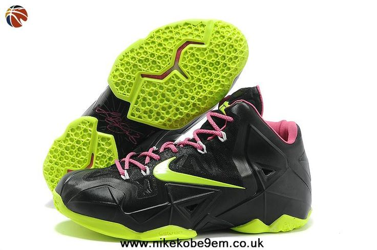 Black Lime Lebron 11 Black Lime Pink Basketball Shoes 616175 602 For Sale