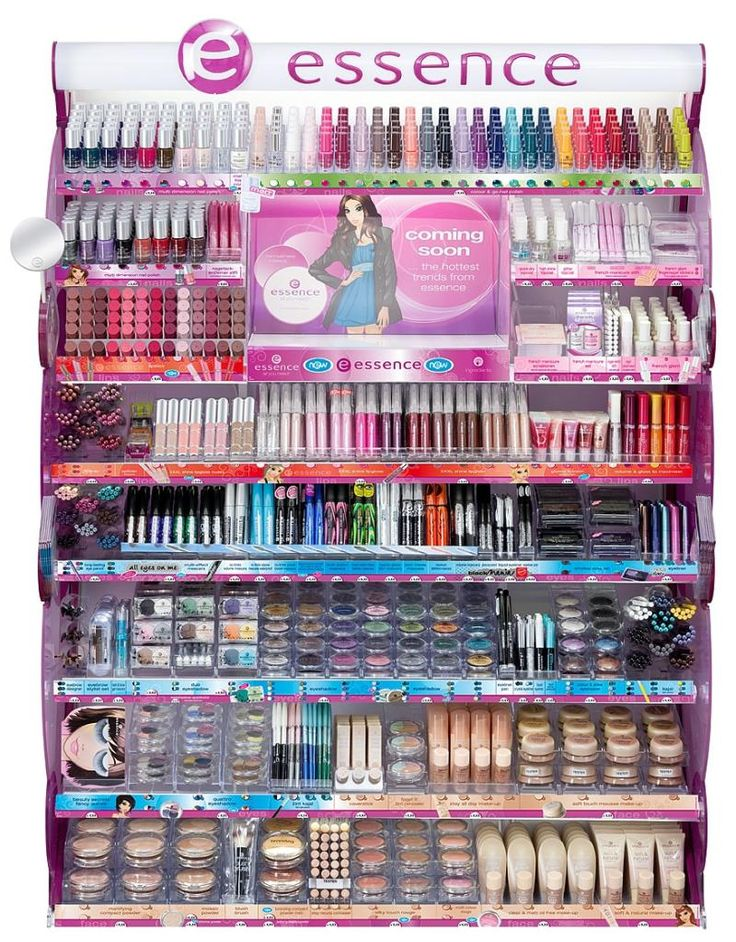 Essence Make-up: wish we had a display this big in BC