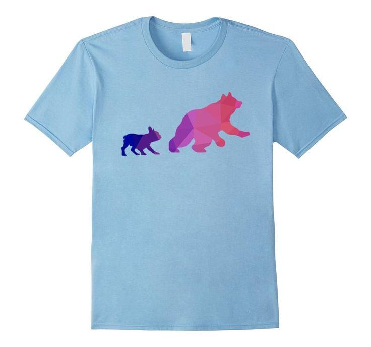 Bulldog vs Bear - Male Small - Baby Blue