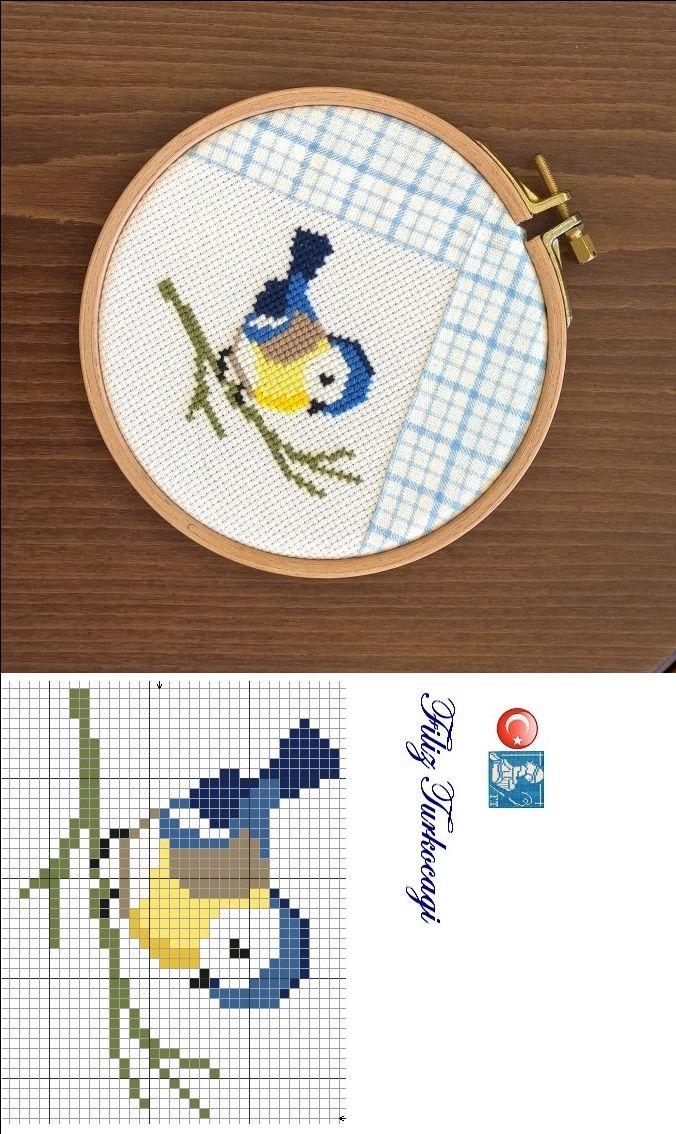 Araya ufak çalışmalar koymanın zamanı geldi... Designed and stitched by Filiz Türkocağı...