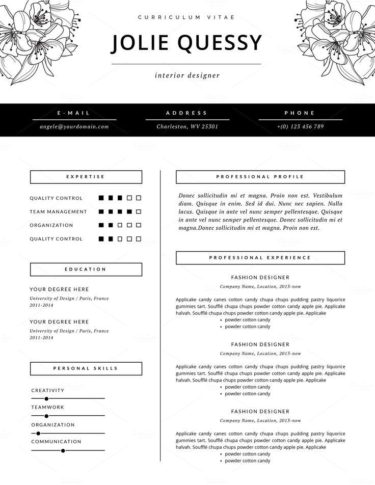 Fashion Resume Template Best 25 Fashion Resume Ideas On Pinterest - fashion resume templates