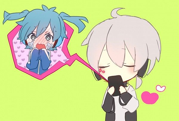 damn adorable! mekaku city actors/ kagerou project!  Konoha kissing ene!