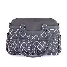 """JJ Cole Canvas Satchel Diaper Bag - Stone Arbor - Babies """"R"""" Us, $69.99, more girl specific with pink/plum lining; reviews read as flimsy changing pad?"""